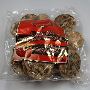"""Sweet pastries """"Lackmann"""" with strawberry flavor - 400g"""
