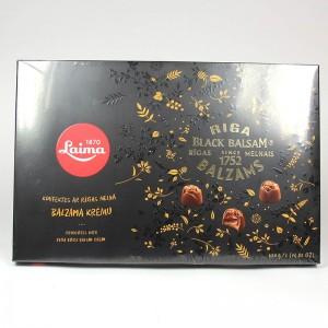 """Laima """"Mit Riga Balsam"""" eine Reihe von Pralinen in dunkler Schokolade - 420 g"""