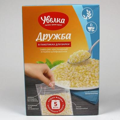 """Mischung """"Druzhba"""" aus Reis und Hirse Uvelka in Kochbeuteln"""