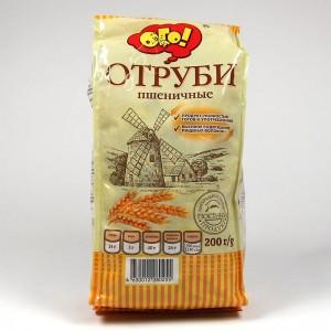 """ОТРУБИ """"ПШЕНИЧНЫЕ"""" ЭКСТРУДИРОВАННЫЕ """"ОГО!"""" - 200г"""