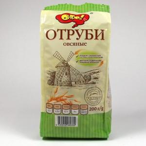 """ОТРУБИ """"ОВСЯНЫЕ"""" ЭКСТРУДИРОВАННЫЕ """"ОГО!"""" - 200г"""